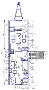 Столовая на 4 места с кухней и спальным местом
