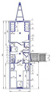 Вагон-дом на 4 человек с сушильными шкафами